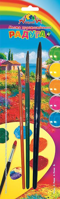 Апплика Набор кистей из волоса пони №2, 4, 6 (3 шт) С1103-01PP-001Кисти из набора Апплика идеально подойдут для детского творчества, художественных и декоративно-оформительских работ. Кисти из натурального ворса пони разных размеров предназначены для работы с акварелью, гуашью, тушью. Конусообразная форма пучка позволяет прорисовывать мелкие детали и выполнять заливку фона. В набор входят кисти №2, 4 и 6