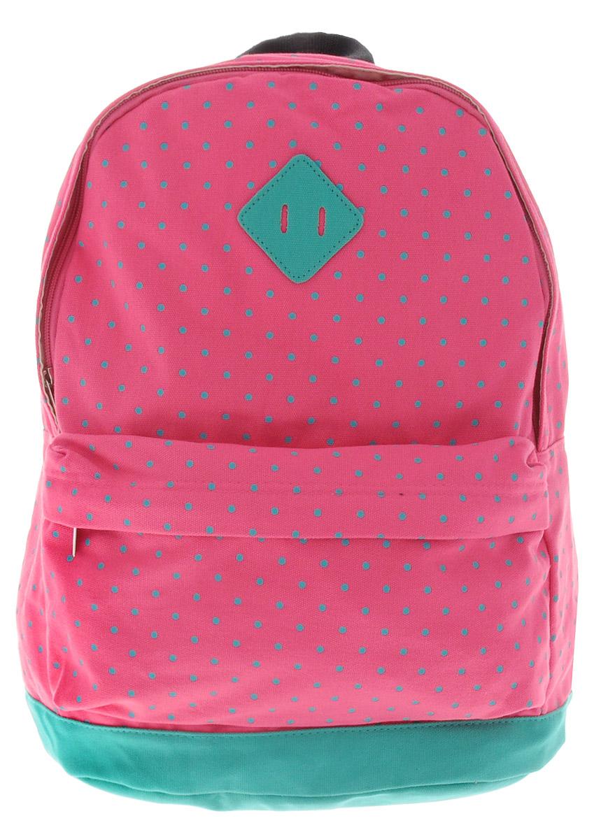 Centrum Рюкзак детский цвет розовый бирюзовый72523WDСтильный рюкзак Centrum предназначен специально для подростков. Рюкзак содержит одно вместительное отделение, закрывающееся на застежку-молнию. Внутри отделения имеется дополнительный прорезной карман на застежке-молнии. На лицевой стороне расположен накладной карман на застежке-молнии. Рюкзак оснащен широкими мягкими лямками, регулирующимися по длине, и петлей для подвешивания на вешалке.Рюкзак будет отличным помощником для вашего ребенка в его походах за знаниями.