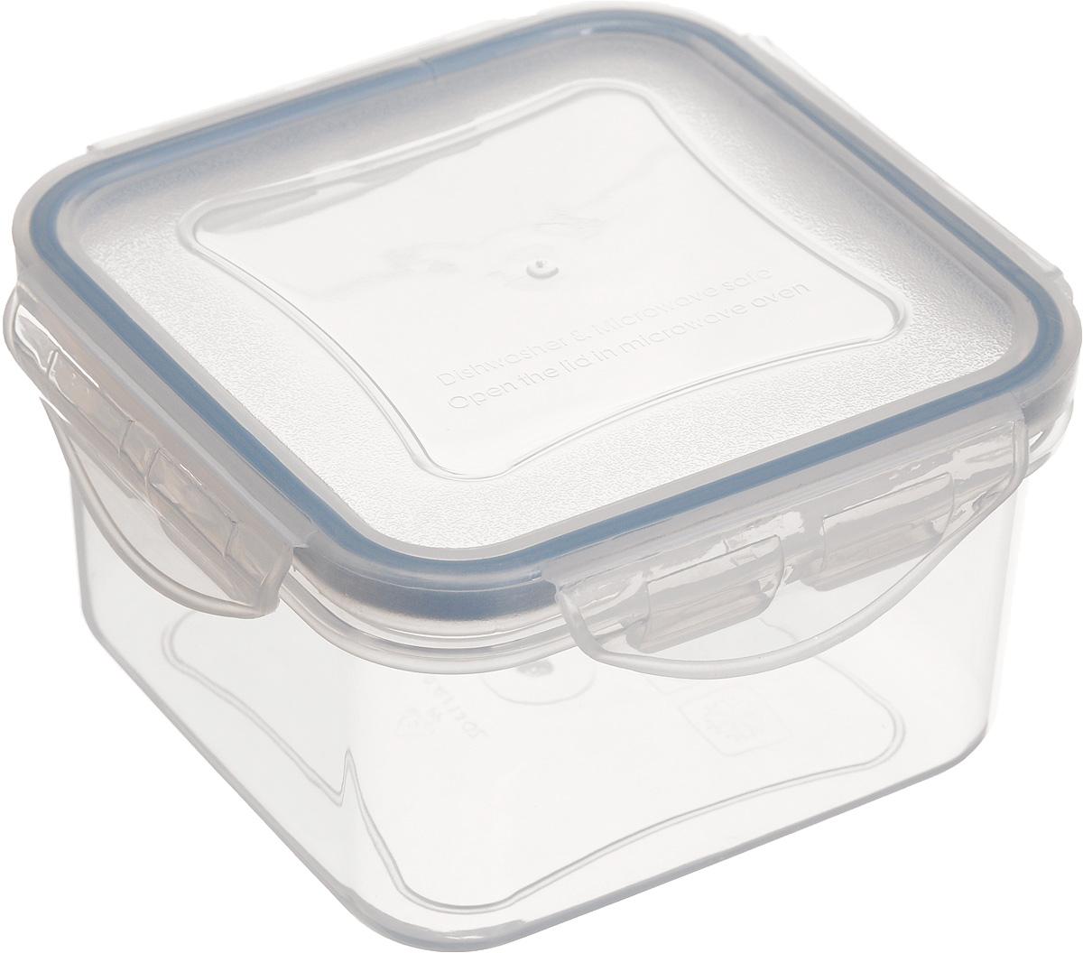 Контейнер Tescoma Freshbox, квадратный, 400 мл892010Контейнер Tescoma Freshbox замечателен для хранения и переноски продуктов. Выполнен из высокопрочной жаростойкой пластмассы, которая выдерживает температуру от -18°С до +110°С. Контейнер снабжен воздухонепроницаемой и водонепроницаемой крышкой с силиконовой прокладкой, которая гарантирует герметичность. Продукты дольше сохраняют свежесть и аромат, а жидкие блюда не вытекают. Контейнер пригоден для использования в холодильнике, морозильной камере и микроволновой печи. Допускается мытье в посудомоечной машине.