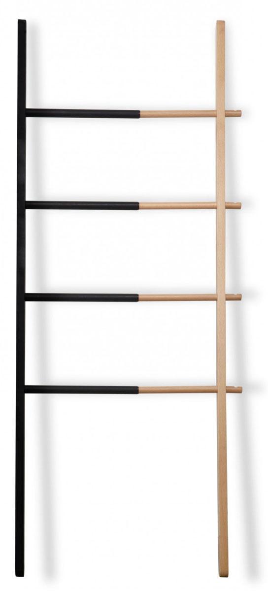 Вешалка Umbra Hub, раздвижная320260-045Гениальная идея для небольшого пространства: вешалка, способная менять свой размер. Её ширина регулируется: от 40,6 см до 61 см, так что если у вас есть незадействованные уголки пространства, добавьте им функциональности. Красивое сочетание древесины бука и стали с черным матовым напылением украсит ванную комнату, кабинет, коридор или спальню, позволив повесить полотенца, одежду и даже пальто. Четыре перекладины и четыре крючка для самых разнообразных вещей. Высота: 152,4 см.