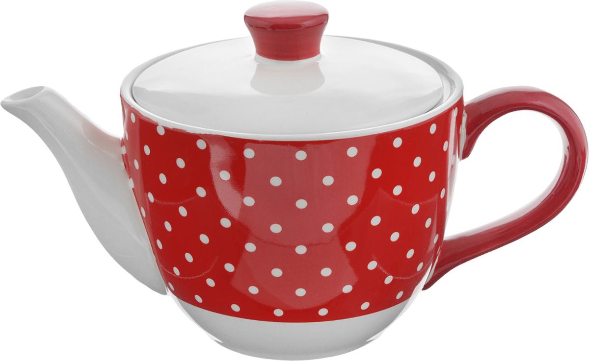 Чайник заварочный Loraine Красный узор, 900 мл. 2585925859Заварочный чайник Loraine Красный узор изготовлен из высококачественной керамики и оформлен красочным рисунком. Гладкая и идеально ровная поверхность обеспечивает легкую очистку. Чайник поможет заварить крепкий ароматный чай и великолепно украсит стол к чаепитию. Не боится низких температур. Можно мыть в посудомоечной машине. Диаметр чайника (по верхнему краю): 13,5 см. Диаметр основания: 7,5 см. Высота чайника (без учета крышки): 10,5 см. Высота чайника (с учётом крышки): 15 см.