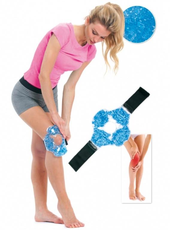 BRADEX Компресс для колена гелевый10481Усталость, отечность коленных суставов и дискомфорт после тренировок, длительной ходьбы или других физических нагрузок можно снять при помощи разогревающего или, наоборот, охлаждающего компресса.Компресс для колена гелевый – это простой, надежный и не стесняющий движений способ охлаждения или прогревания колена.