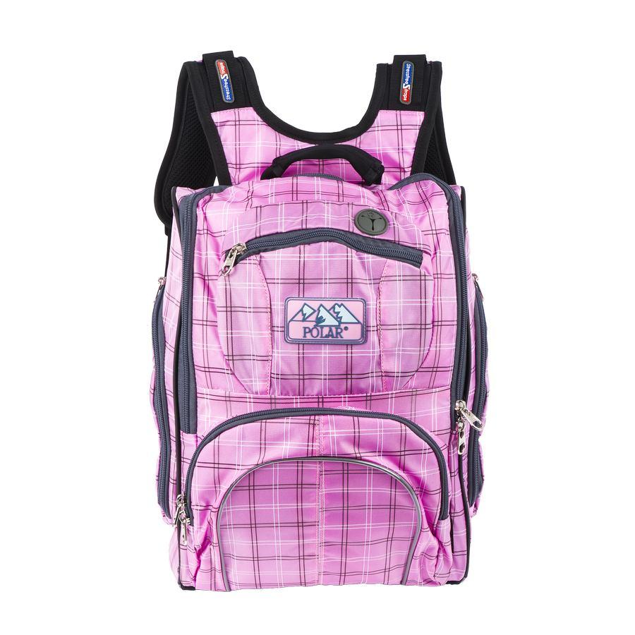 Рюкзак детский городской Polar, 19 л, цвет: розовый. П3065А-17RU-417-1 Рюкзак /4 черный - желтыйШкольный рюкзак Polar. Полностью вентилируемая и удобная мягкая спинка, мягкие плечевые лямки создают дополнительный комфорт приношении. Основное отделение с внутренним отделением для ноутбука диагональю 14 Большие карманы для аксессуаров и персональных вещей. Два боковых кармана на молнии. Регулирующая грудная стяжка с удобным фиксатором. Материал Polyester Oxford PU 600D .