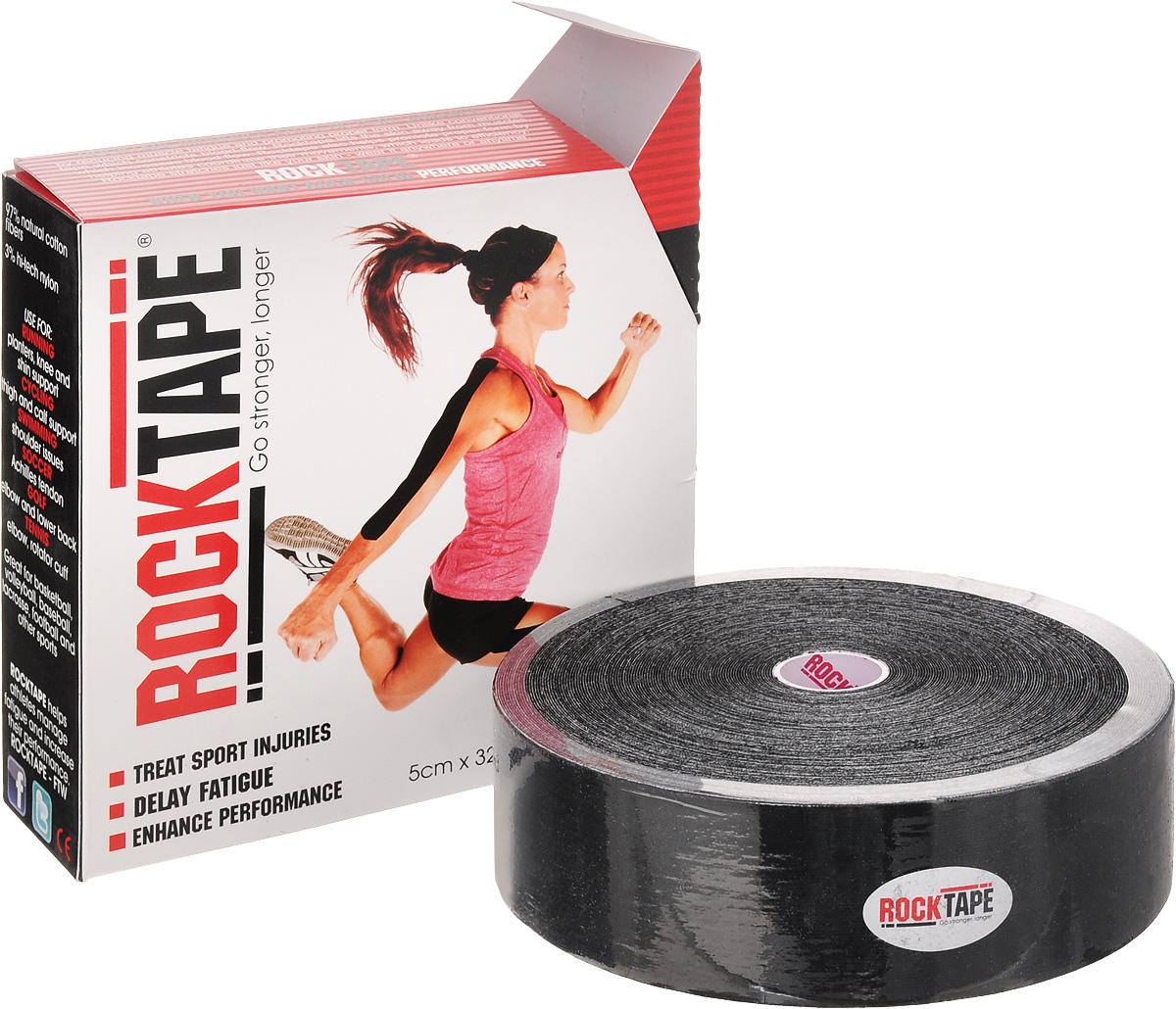 Кинезио тейп Rocktape Bulk, цвет: черный, 5 x 3200 смAP02013Кинезио тейп Rocktape Bulkc, выполненный из хлопка и акрила, предназначен для снятия отеков и рассасывания гематом. Уменьшает мышечную усталость и способствует притоку крови для более быстрого восстановления. Повышает производительность. Ширина ленты: 5 см.