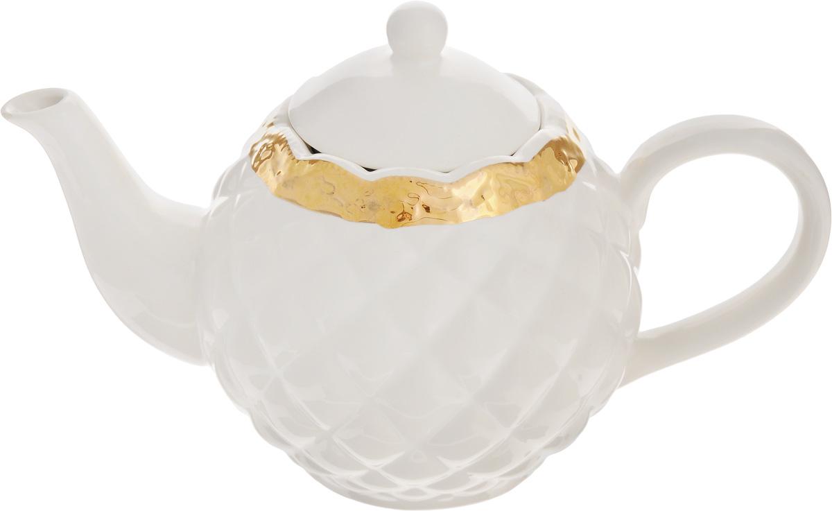 Чайник заварочный Patricia Вивиана, 1,04 лIM18-0211Заварочный чайник Patricia Вивиана, изготовленный из высококачественного фаянса, имеет рельефную поверхность и декорирован золотистым кантом в виде изящных цветов. Заварочный чайник Patricia Вивиана поможет заварить крепкий ароматный чай и великолепно украсит стол к чаепитию. Не рекомендуется мыть в посудомоечной машине и использовать в микроволновой печи. Диаметр чайника (по верхнему краю): 8 см. Высота чайника (без учета крышки): 12 см.