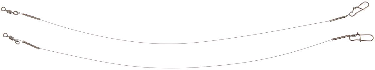 Поводок Win Soft, мягкий, тест 4 кг, 15 см, 2 штКальсоны Verticale POLARПоводок Win Soft изготовлен из особого титанового сплава. Материал производится по специальной технологии, отличается специальным легированием и дополнительной термомеханической обработкой. Мягкость и пластичность обеспечивает приманке большую свободу движений. При небольших механических повреждениях поводок восстанавливает форму от тепла рук. Многократно растягивается до 8% под нагрузкой без ущерба прочности. Не подвержен коррозии, не токсичен.Особенности поводка:Многократно испытан на прочность.Высококачественная фурнитура подобрана с достаточным запасом прочности.Контроль качества на всех этапах производства.Длина поводков: 15 см.Тест: 4 кг.Диаметр: 0,2 мм.