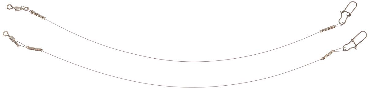 Поводок Win Soft Mirror, мягкий, тест 4 кг, 10 см, 2 шт56983Поводок Win Soft Mirror изготовлен из особого титанового сплава. Он отражает и рассеивает свет, при невысокой освещенности становится невидимым. Мягкость и пластичность обеспечивает приманке большую свободу движений. При небольших механических повреждениях поводок восстанавливает форму от тепла рук. Многократно растягивается до 8% под нагрузкой без ущерба прочности. Не подвержен коррозии, не токсичен. Особенности поводка: Многократно испытан на прочность. Высококачественная фурнитура подобрана с достаточным запасом прочности. Контроль качества на всех этапах производства. Длина поводков: 10 см. Тест: 4 кг. Диаметр: 0,2 мм.