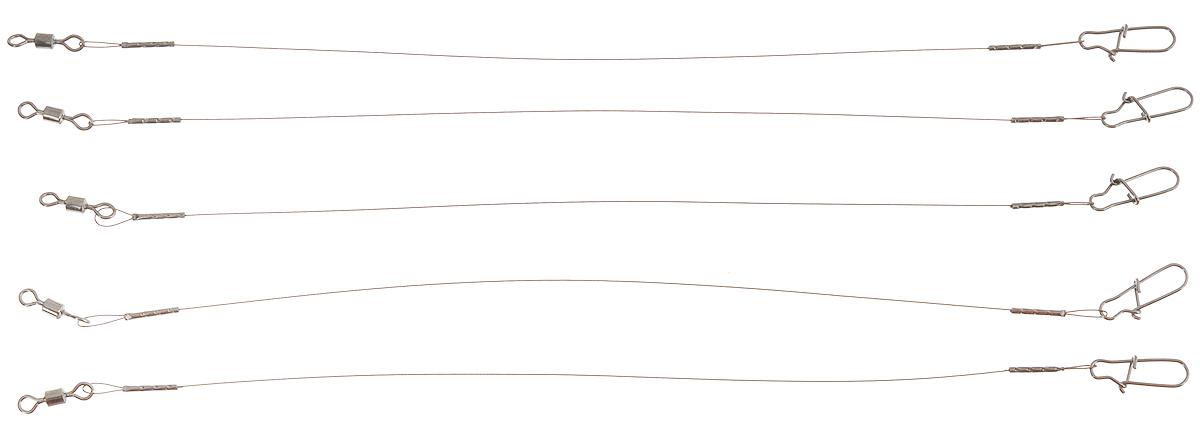 Поводок Win AFW, тест 9 кг, 15 см, 3 шт56954Поводки Win AFW выполнены из высококачественного материала Surfstrand Micro Supreme 1x7 AFW. Данный материал имеет маскирующее покрытие САМО, подходящее для большинства водоемов. Поводки очень мягкие и устойчивые к деформациям, не подвержены коррозии, деформациям. Особенности поводков: Многократно испытаны на прочность. Высококачественная фурнитура подобрана с достаточным запасом прочности. Контроль качества на всех этапах производства. Длина поводков: 15 см. Тест: 9 кг. Диаметр: 0,28 мм.