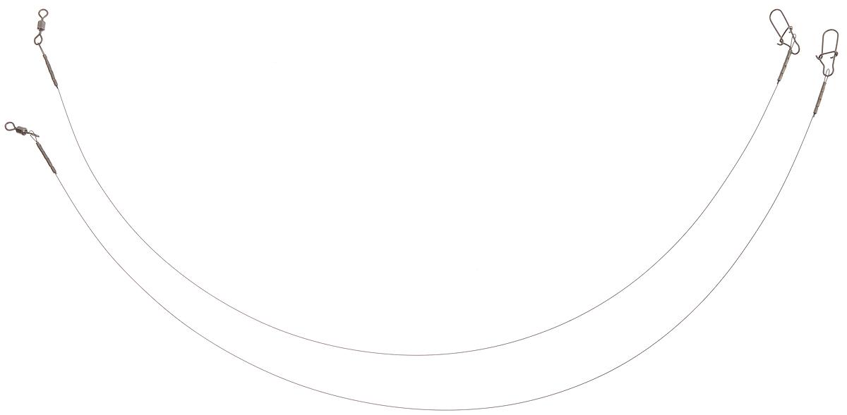 Поводок Win Soft, мягкий, тест 6 кг, 25 см, 2 шт03/1/12Поводок Win Soft изготовлен из особого титанового сплава. Материал производится по специальной технологии, отличается специальным легированием и дополнительной термомеханической обработкой. Мягкость и пластичность обеспечивает приманке большую свободу движений. При небольших механических повреждениях поводок восстанавливает форму от тепла рук. Многократно растягивается до 8% под нагрузкой без ущерба прочности. Не подвержен коррозии, не токсичен.Особенности поводка:Многократно испытан на прочность.Высококачественная фурнитура подобрана с достаточным запасом прочности.Контроль качества на всех этапах производства.Длина поводков: 12,5 см.Тест: 6 кг.Диаметр: 0,25 мм.