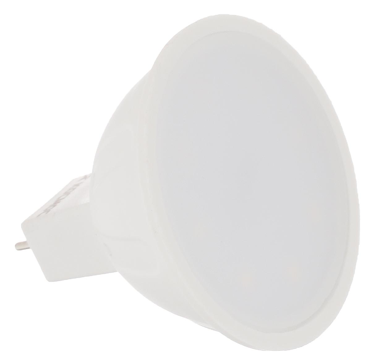 Светодиодная лампа Kosmos, белый свет, цоколь GU5.3, 5WC0027358Энергосберегающая лампа Kosmos - это инновационное решение, разработанное на основе новейших светодиодных технологий (LED) для эффективной замены любых видов галогенных или обыкновенных ламп накаливания во всех типах осветительных приборов. Она хорошо подойдет для создания рабочей атмосферыв производственных и общественных зданиях, спортивных и торговых залах, в офисах и учреждениях. Лампа не содержит ртути и других вредных веществ, экологически безопасна и не требует утилизации, не выделяет при работе ультрафиолетовое и инфракрасное излучение. Исполнена в пластиковом корпусе. Оснащена рефлекторным рассеивателем.Напряжение: 220-240 В. Использовать при температуре: от -40° до +50°.