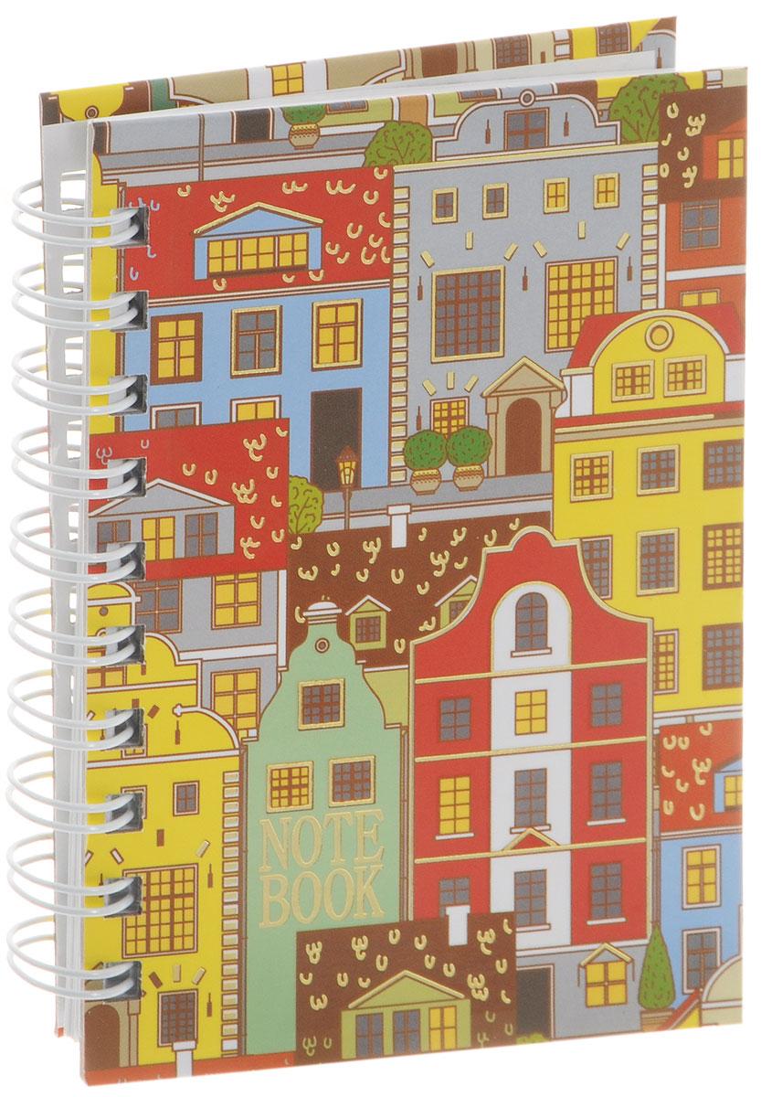 Listoff Тетрадь Голландские домики 100 листов в клетку формат А672523WDТетрадь Listoff Голландские домики подойдет как школьнику, так и взрослому человеку. Обложка тетради оформлена оригинальным орнаментным рисунком с яркими городскими домами. Твердая обложка тетради придает ей прочность и долговечность. Тетрадь формата А6 удобно носить с собой даже в небольшой сумке.Внутренний блок тетради состоит из 100 листов белой бумаги с линовкой в мелкую клетку. Листы тетради соединены металлической спиралью, благодаря чему можно быстро и удобно перелистывать страницы.