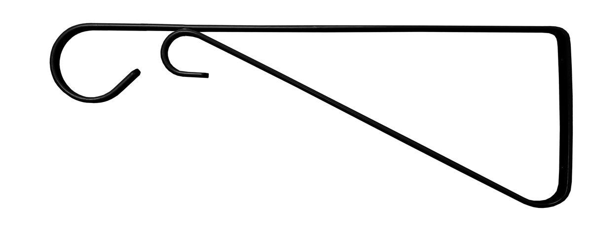 Кронштейн для кашпо Masterprof, с ребром жесткости, 30 см, цвет: черныйHS.040016Кронштейн для подвешивания кашпо, фонарей, установки полок. Подходит для использования внутри и снаружи помещений. Рабочая длина 30 см. Максимальная нагрузка на кронштейн - 17,2 кг. Диаметр используемого кашпо до 40,6 см. Цвет - Черный.