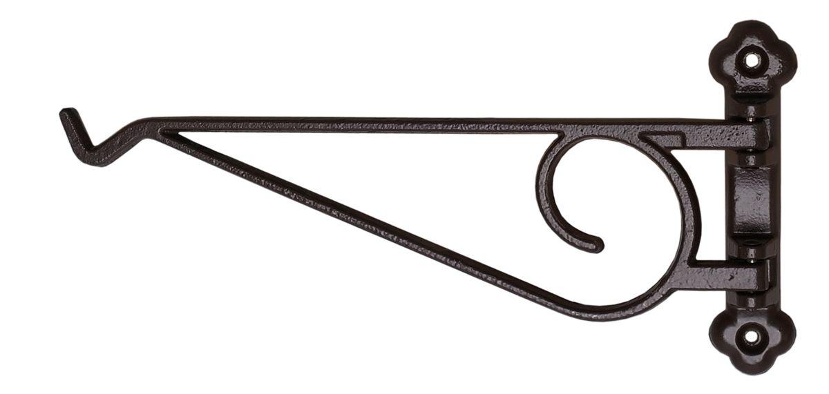 Кронштейн для кашпо поворотный Masterprof, цвет: черныйHS.040021Кронштейн для подвешивания кашпо. Подходит для использования внутри и снаружи помещений. Рабочая длина 22,9 см. Максимальная нагрузка на кронштейн - 22,7кг. Диаметр используемого кашпо до 30,5 см. Цвет - Черный.