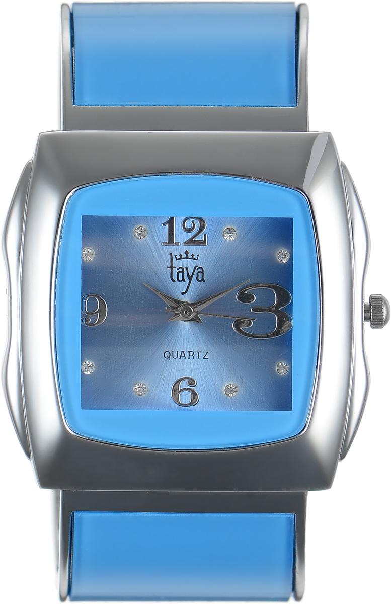 Часы наручные женские Taya, цвет: серебряный, голубой. T-W-0436T-W-0436-WATCH-SL.BLUEЭлегантные женские часы Taya выполнены из металлического сплава, минерального стекла и нержавеющей стали. Циферблат часов инкрустирован стразами и оформлен символикой бренда. Корпус часов оснащен кварцевым механизмом со сменным элементом питания и дополнен раздвижным браслетом с пружинным механизмом, который позволяет надеть часы на любую руку. Часы поставляются в фирменной упаковке. Часы Taya подчеркнут изящность женской руки и отменное чувство стиля у их обладательницы.