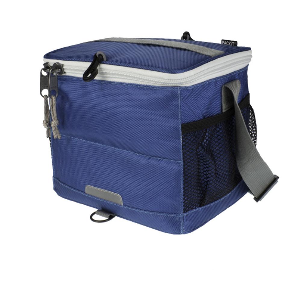 Сумка-холодильник Packit для напитков, цвет: синий, 9 банок19201Охлаждение содержимых в сумке продуктов в течение 10-ти часов. Наличие плечевого ремня, обеспечивающего максимальное удобство транспортировки сумки.