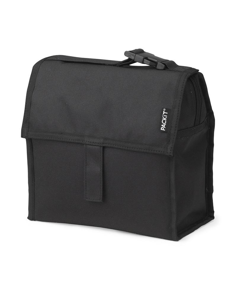 Сумка-холодильник Packit Mini Lunch Bag, цвет: черный, 2 л19201Охлаждение содержимых в сумке продуктов в течение 10-ти часов. Наличие плечевого ремня, обеспечивающего максимальное удобство транспортировки сумки.