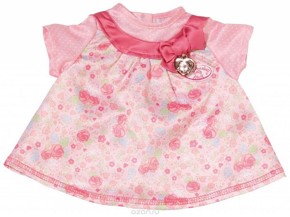 Baby Annabell Одежда для кукол Платье цвет розовый 794-531_розовая вставка