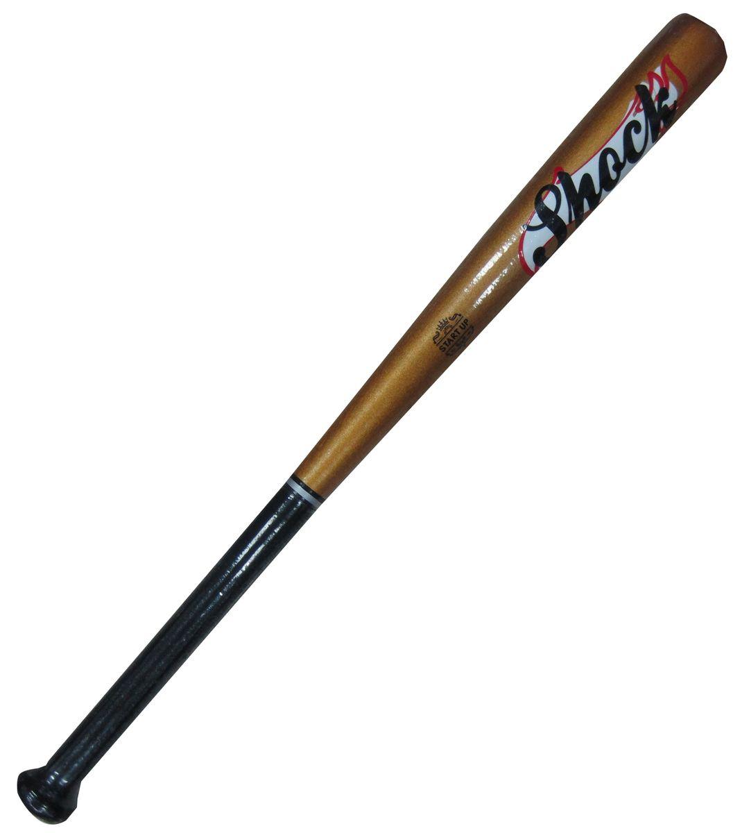 Бита бейсбольная Start UP R Shock, цвет: золото, 26120330_yellow/blackБейсбольная бита Start Up выполнена из каучукового дерева, а это значит, что она невероятно прочная и плотная. Размер - 26 (66 см).