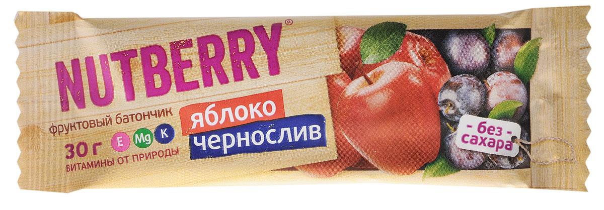 Nutberry Витафрут батончик фруктовый с яблоком и черносливом, 30 г0120710Фруктовый батончик Nutberry Витафрут с яблоком и черносливом - полезный и натуральный снэк. Сочетание яблока и чернослива не просто придется вам по вкусу, но еще и зарядит вас полезными витаминами, которые содержаться в сухофруктах. Сладкий вкус чернослива тонко разбавляет кислинка яблока, что делает продукт сбалансированным по сладости.Фруктовые батончики Nutberry - натурально, вкусно, с заботой о вас. Фруктовый батончик справится с голодом в два счета. Любой перекус станет вкусным и полезным. С утренним кофе, с обеденным чаем, со свежевыжатым соком фруктовый батончик Nutberry станет незаменимым составляющим вашего рациона.Фруктовые батончики Nutberry изготавливаются только из натуральных спрессованных фруктов.Батончики Nutberry содержат естественные фруктовые сахара! При производстве в продукт не добавляются фруктоза, сахар и другие сахаросодержащие продукты.Фруктовые батончики Nutberry абсолютно безопасны, не содержат ароматизаторов, красителей.Уважаемые клиенты! Обращаем ваше внимание, что полный перечень состава продукта представлен на дополнительном изображении.