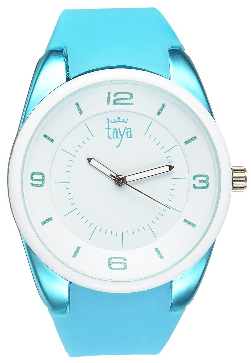 Часы наручные женские Taya, цвет: белый, бирюзовый. T-W-0250T-W-0250-WATCH-WH.TURQСтильные женские часы Taya выполнены из минерального стекла, силикона и нержавеющей стали. Циферблат часов украшен символикой бренда. Корпус часов оснащен кварцевым механизмом со сменным элементом питания, а также дополнен силиконовым ремешком, который застегивается на пряжку. На стрелки нанесен светящийся состав. Часы поставляются в фирменной упаковке. Часы Taya подчеркнут изящность женской руки и отменное чувство стиля у их обладательницы.