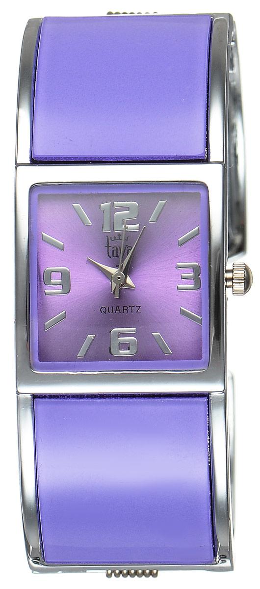 Часы наручные женские Taya, цвет: серебристый, лавандовый. T-W-0409T-W-0409-WATCH-SL.LAVENDERСтильные женские часы Taya выполнены из минерального стекла и нержавеющей стали. Циферблат часов оформлен символикой бренда. Корпус часов оснащен кварцевым механизмом со сменным элементом питания и дополнен раздвижным браслетом с пружинным механизмом. Часы поставляются в фирменной упаковке. Часы Taya подчеркнут изящность женской руки и отменное чувство стиля у их обладательницы.
