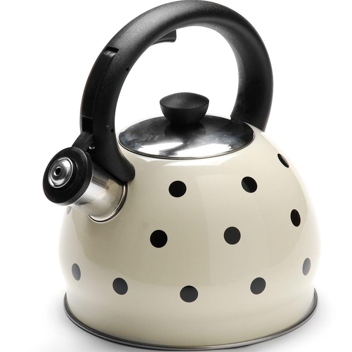 Чайник Mayer & Boch Горох, со свистком, 2 л. 2589225892Чайник со свистком Mayer & Boch изготовлен из высококачественной нержавеющей стали, что обеспечивает долговечность использования. Носик чайника оснащен откидным свистком, звуковой сигнал которого подскажет, когда закипит вода. Свисток открывается нажатием кнопки на фиксированной ручке, сделанной из пластика. Чайник Mayer & Boch - качественное исполнение и стильное решение для вашей кухни. Подходит для всех типов плит, включая индукционные. Можно мыть в посудомоечной машине. Высота чайника (с учетом ручки и крышки): 20 см. Высота чайника (без учета ручки и крышки): 12 см. Диаметр чайника (по верхнему краю): 9 см. Диаметр основания: 16,5 см.
