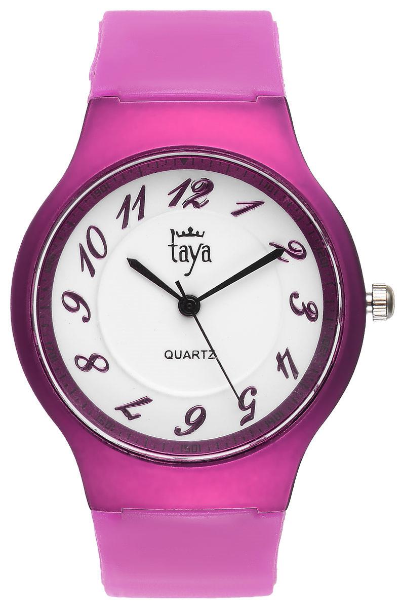 Часы наручные женские Taya, цвет: фуксия. T-W-0227T-W-0227-WATCH-FUCHSIAСтильные спортивные часы Taya выполнены из минерального стекла, силикона и нержавеющей стали. Циферблат оформлен символикой бренда. Корпус часов оснащен кварцевым механизмом со сменным элементом питания, а также силиконовым ремешком с практичной пряжкой. Часы поставляются в фирменной упаковке. Часы Taya подчеркнут изящность женской руки и отменное чувство стиля у их обладательницы.
