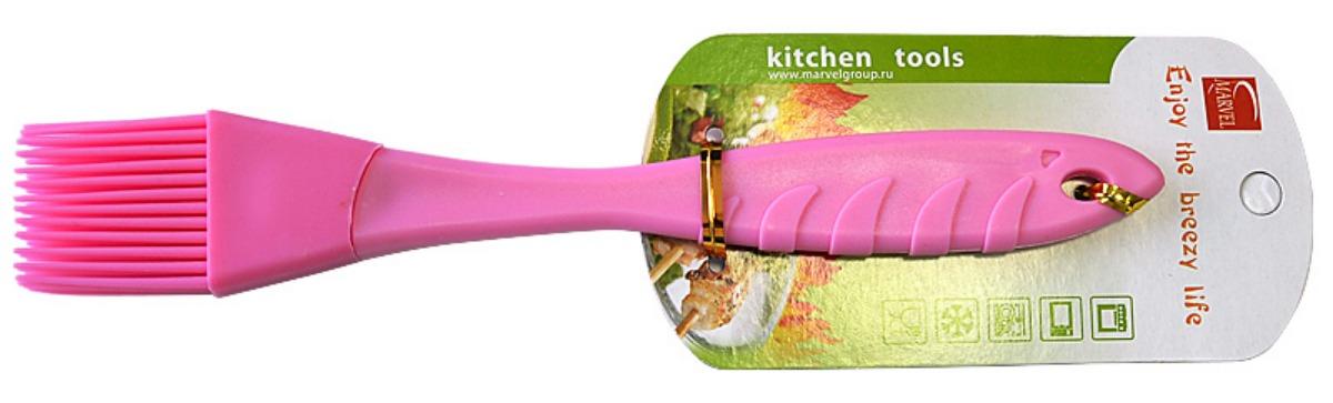 Кисть кулинарная Marvel, длина 23 см4495Кулинарная кисть Marvel, изготовленная из силикона, станет верным помощником в приготовлении домашней выпечки. Ей удобно смазывать противни, наносить на пироги взбитые яйца, глазурь, сироп, мед. Кисточка абсолютна безопасна для антипригарного покрытия, не оставляет царапин. Специальное отверстие на ручке позволяет подвесить кисть в удобном для вас месте. Кисточка Marvel поможет в приготовлении ваших любимых блюд. Длина кисточки: 23 см.