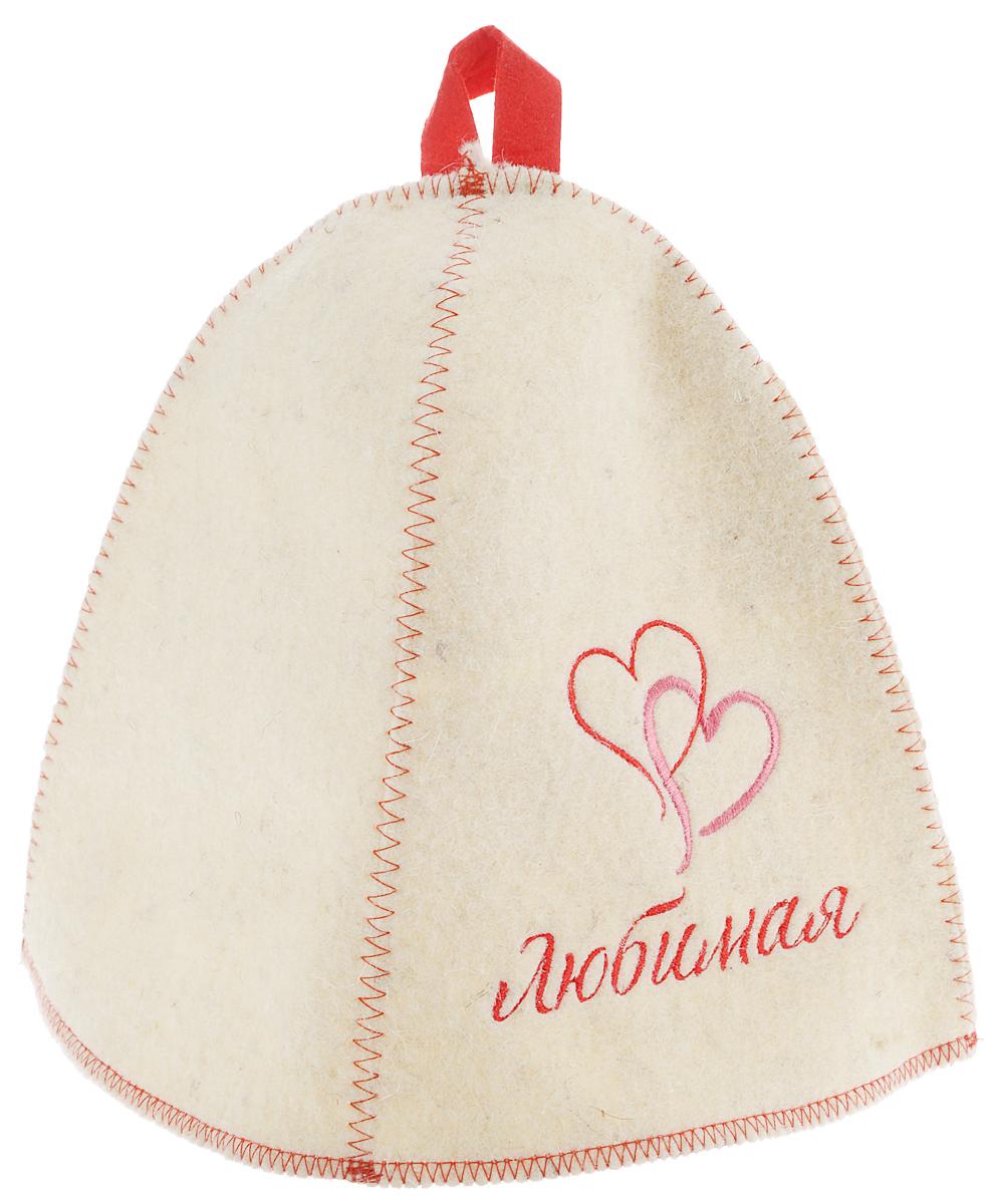 Шапка для бани и сауны Главбаня ЛюбимаяБ4017Банная шапка Главбаня Любимая, изготовленная из шерсти и полиэфира, декорирована надписью и яркой вышивкой в виде сердец. Банная шапка - это незаменимый аксессуар для любителей попариться в русской бане и для тех, кто предпочитает сухой жар финской бани. Кроме того, шапка защитит волосы от сухости и ломкости, голову от перегрева и предотвратит появление головокружения. На шапке имеется петелька, с помощью которой ее можно повесить на крючок в предбаннике. Такая шапка станет отличным подарком для любителей отдыха в бане или сауне. Обхват головы: 68 см. Высота шапки (без учета петельки): 25 см.