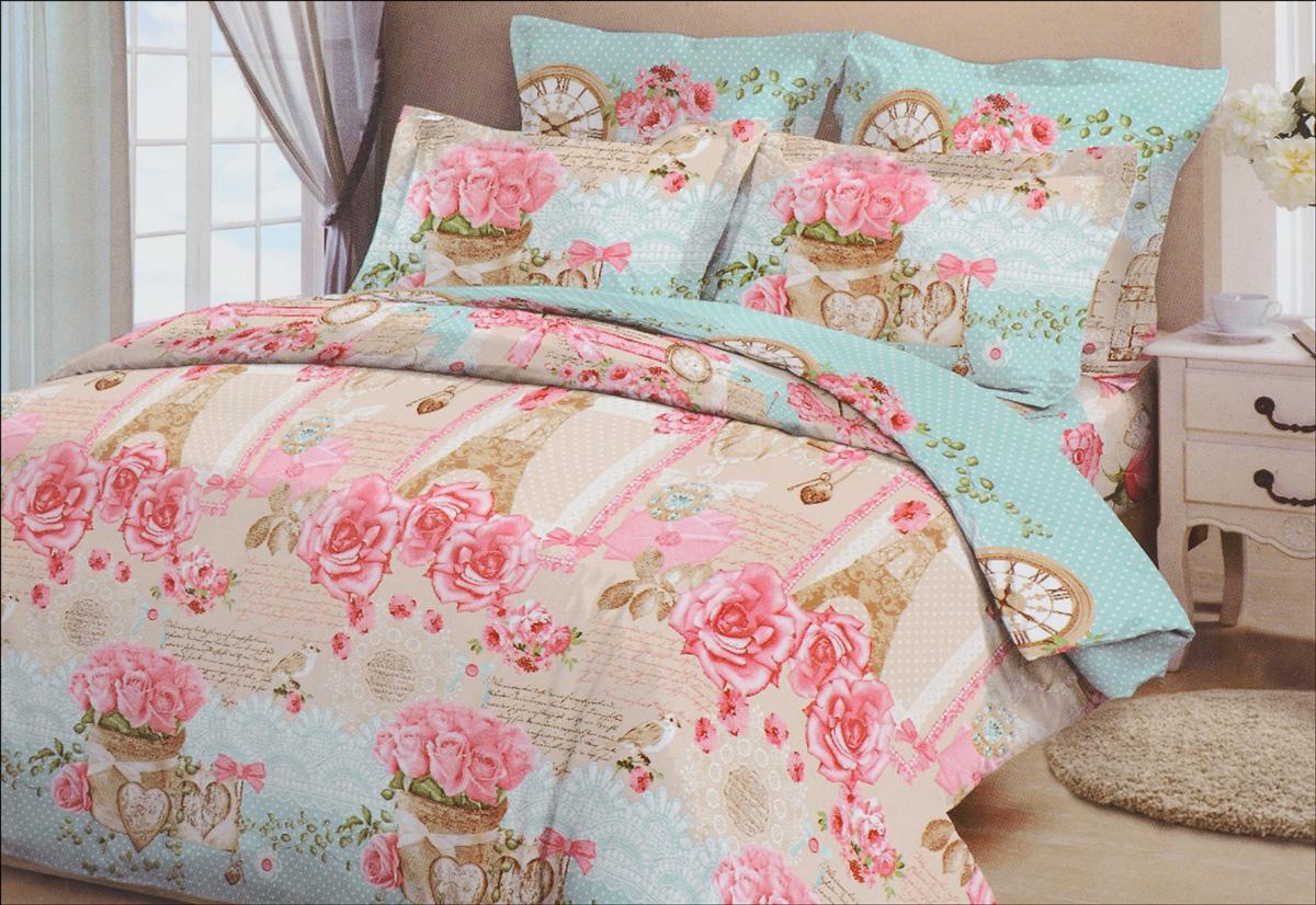 Комплект белья Letto, семейный, наволочки 70х70, цвет: розовый, голубойB36-7Комплект белья Letto, выполненный из бязи (100% хлопка), состоит из пододеяльника, простыни и двух наволочек. Бязь - хлопчатобумажная ткань полотняного переплетения без искусственных добавок. Большое количество нитей делает эту ткань более плотной, более долговечной. Высокая плотность ткани позволяет сохранить форму изделия, его первоначальные размеры и первозданный рисунок. Приобретая комплект постельного белья Letto, вы можете быть уверенны в том, что покупка доставит вам и вашим близким удовольствие и подарит максимальный комфорт.