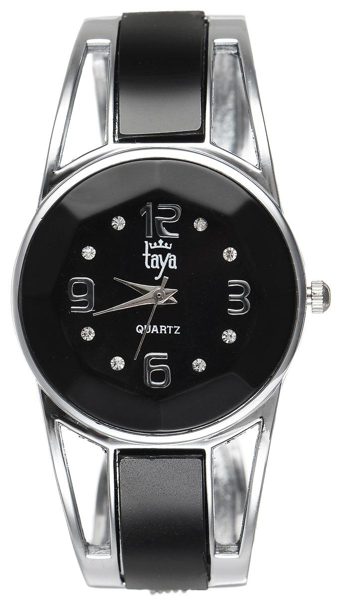 Часы наручные женские Taya, цвет: серебристый, черный. T-W-0431INT-06501Стильные женские часы Taya выполнены из минерального стекла и нержавеющей стали. Корпус часов оформлен огранкой по всей окружности, циферблат инкрустирован стразами и дополнен символикой бренда.Корпус оснащен кварцевым механизмом со сменным элементом питания, а также дополнен раздвижным браслетом с пружинным механизмом и цветными стеклянными вставками.Часы поставляются в фирменной упаковке.Часы Taya подчеркнут изящность женской руки и отменное чувство стиля у их обладательницы.