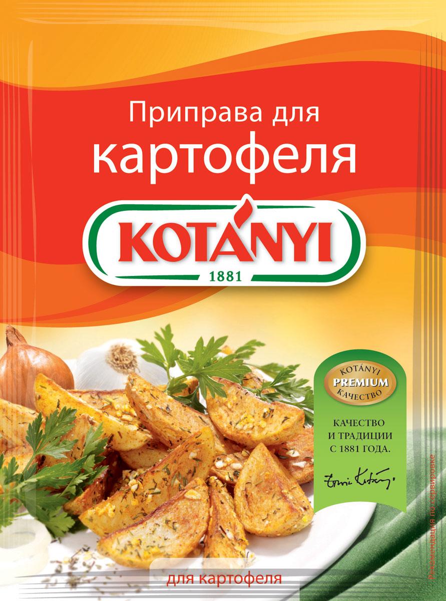 Kotanyi Приправа для картофеля, 30 г0120710Приправа для картофеля Kotanyi - это сбалансированная смесь ароматных трав и специй, идеально подходящих для любых блюд из картофеля. Применение: картофельные блюда, супы, запеканки.