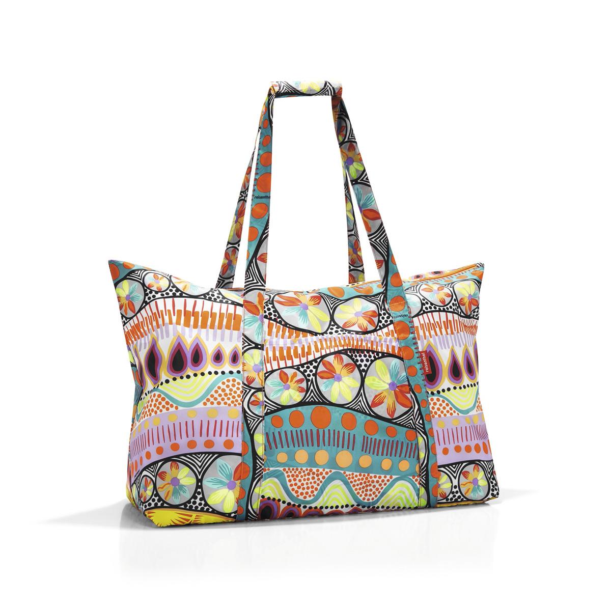 Сумка-шоппер женская Reisenthel, цвет: голубой, розовый. AG20203-47670-00504Идеальный компаньон для путешествий, ведь из поездки мы всегда возвращаемся со множеством сувениров и покупок. Так что еще одна сумка пригодится. Она легко складывается в маленький чехол, которые можно взять с собой в сумке или рюкзаке. Так же можно использовать для похода за продуктами.Внутренний объем сумки - 30 литров. Есть внешний кармашек для мелочей. Для удобства ручки сумки можно соединить между собой.