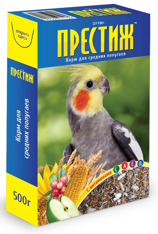 """Футон - Престиж Корм """"Престиж"""" для средних попугаев, 500 г 4627092860020"""