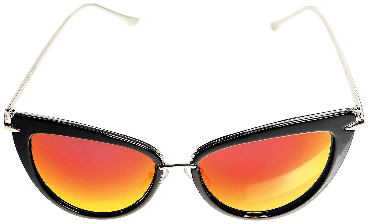 Солнцезащитные очки женские Selena, цвет: черный, красный. 80034211INT-06501Солнцезащитные женские очки Selena сделают ваш образ завершенным. Оправа выполнена из высококачественного пластика, дужки - из металла. Линзы данных очков обеспечивают полную защиту от ультрафиолетовых лучей. Используемый пластик не искажает изображение, не подвержен нагреванию и вредному воздействию солнечных лучей.Такие очки защитят глаза от ультрафиолетовых лучей и подчеркнут вашу индивидуальность.