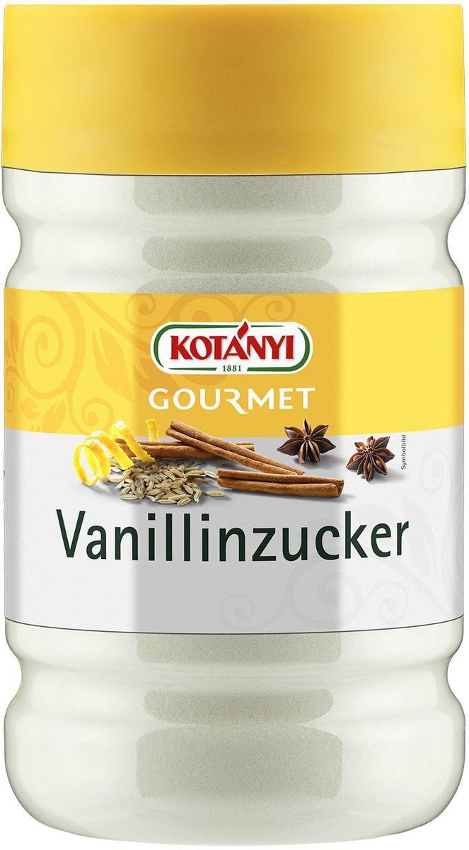 Kotanyi Ванилиновый сахар, 830 г251301Ванилиновый сахар Информация о продукте: используется для выпечки, сладких блюд, пудингов, кремов, фруктовых салатов и йогуртов. Состав: сахар, ароматизатор: ванилин. Может содержать следы глютеносодержащих злаков, яиц, сои, сельдерея, кунжута, орехов, молока (лактозы), горчицы. Пищевая ценность в 100 г: энергетическая ценность: 398 кКал/1670 кДж, углеводы 98 г. Хранить плотно закрытым в сухом месте.