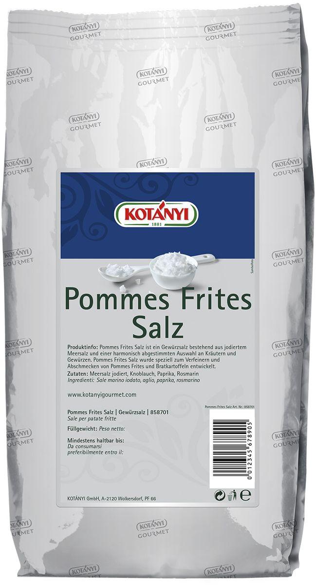 Kotanyi Для картофеля, 1 кг0120710Приправа для картофеля идеально подходит для картофеля фри и жареного картофеля. Может содержать следы глютеносодержащих злаков, яиц, сои, сельдерея, кунжута, орехов, горчицы, молока (лактозы). Пищевая ценность в 100 г: энергетическая ценность: 288 кДж/69 ккал, белки 2,7 г, углеводы 10 г, жиры 1,4 г. Масса нетто: 1 кг. Хранить плотно закрытым в сухом месте.