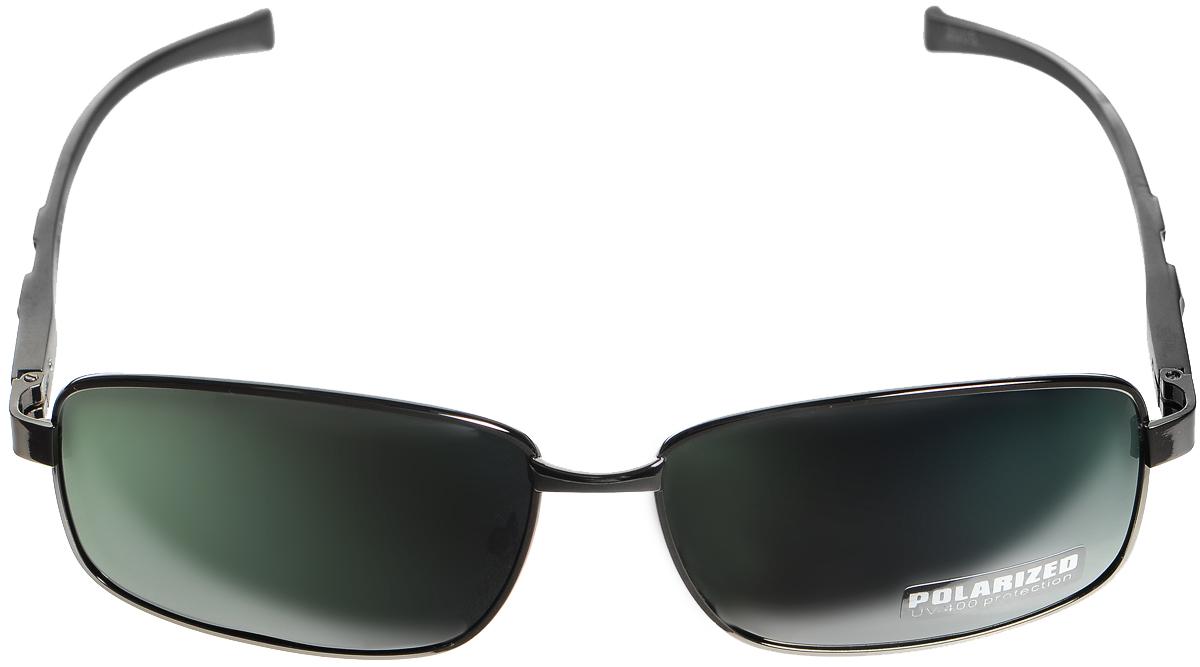 Очки солнцезащитные женские Selena, цвет: зеленый, темно-серый, серый. 800330812636.46B.KD1 BlackСолнцезащитные женские очки Selena выполнены из металла с элементами из высококачественного пластика. Дужки оформлены декоративной резьбой.Линзы данных очков с высокоэффективным фильтром UV-400 Protection обеспечивают полную защиту от ультрафиолетовых лучей. Используемый пластик не искажает изображение, не подвержен нагреванию и вредному воздействию солнечных лучей.Такие очки защитят глаза от ультрафиолетовых лучей, подчеркнут вашу индивидуальность и сделают ваш образ завершенным.
