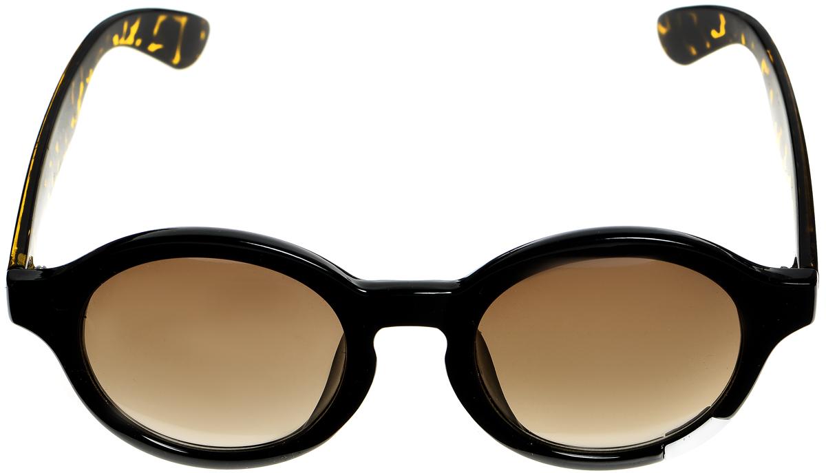 Очки солнцезащитные женские Selena, цвет: черный, коричневый. 80033471INT-06501Солнцезащитные женские очки Selena выполнены из металла с элементами из высококачественного пластика. Дужки оформлены декоративными узорами, а оправа дополнена металлической вставкой.Линзы данных очков с высокоэффективным фильтром UV-400 Protection обеспечивают полную защиту от ультрафиолетовых лучей. Используемый пластик не искажает изображение, не подвержен нагреванию и вредному воздействию солнечных лучей.Такие очки защитят глаза от ультрафиолетовых лучей, подчеркнут вашу индивидуальность и сделают ваш образ завершенным.