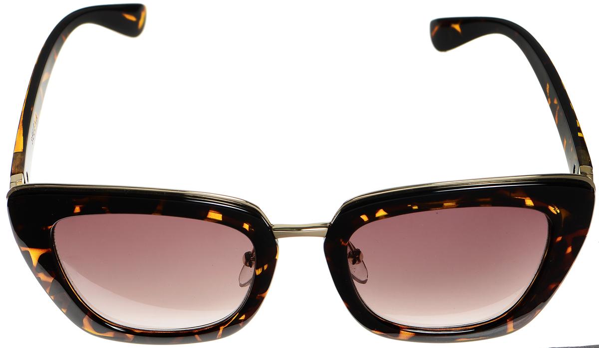 Очки солнцезащитные женские Selena, цвет: коричневый, золотистый. 80034181L330710 fuchsiaСолнцезащитные женские очки Selena выполнены из высококачественного пластика с элементами из металла и оформлены оригинальным рисунком.Линзы данных очков с высокоэффективным фильтром UV-400 Protection обеспечивают полную защиту от ультрафиолетовых лучей. Используемый пластик не искажает изображение, не подвержен нагреванию и вредному воздействию солнечных лучей.Такие очки защитят глаза от ультрафиолетовых лучей, подчеркнут вашу индивидуальность и сделают ваш образ завершенным.