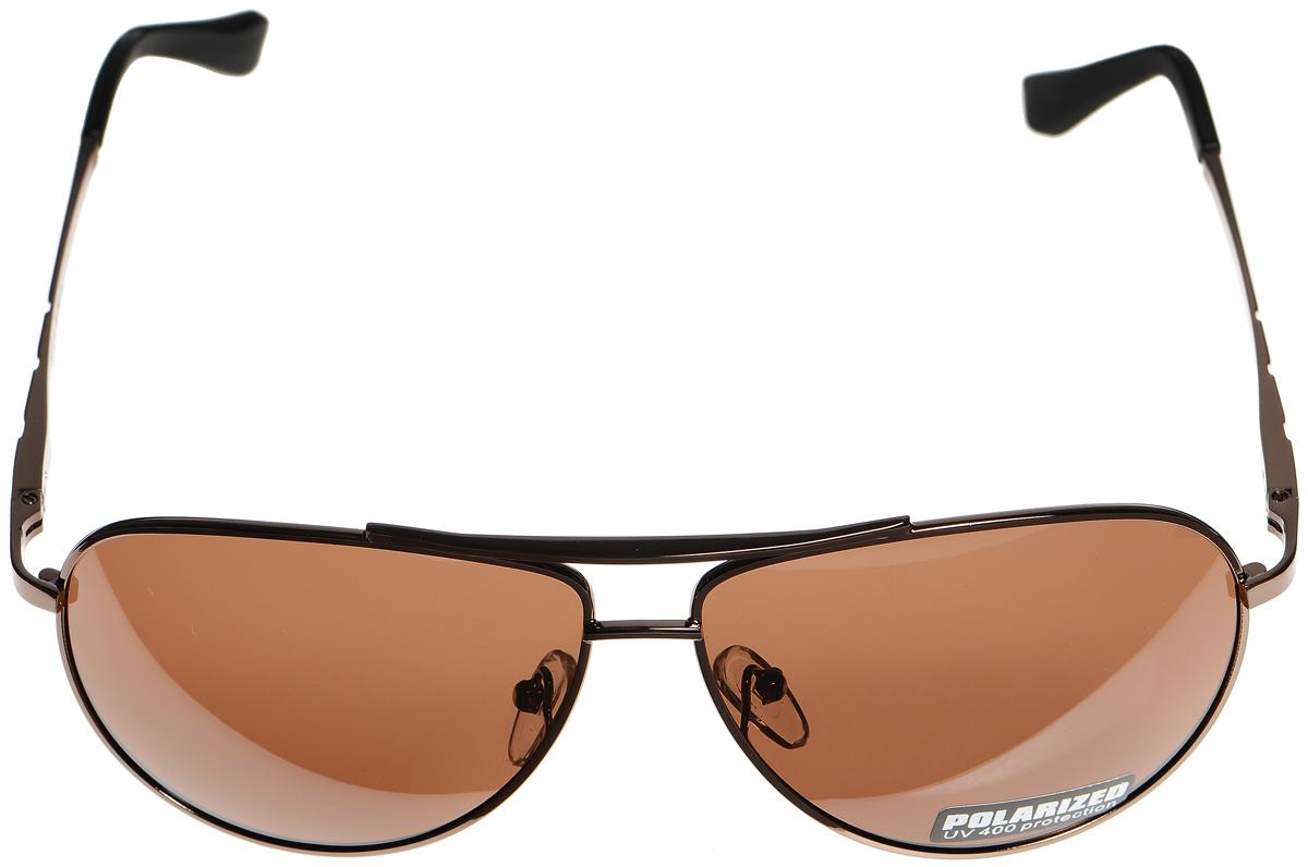 Очки солнцезащитные женские Selena, цвет: коричневый, черный. 80033051T-8I-RBСолнцезащитные женские очки Selena выполнены из металла с элементами из высококачественного пластика. Дужки оформлены декоративной резьбой.Линзы данных очков с высокоэффективным фильтром UV-400 Protection обеспечивают полную защиту от ультрафиолетовых лучей. Используемый пластик не искажает изображение, не подвержен нагреванию и вредному воздействию солнечных лучей.Такие очки защитят глаза от ультрафиолетовых лучей, подчеркнут вашу индивидуальность и сделают ваш образ завершенным.