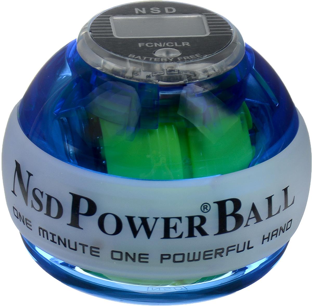 Тренажер кистевой NSD Power Powerball Neon Pro, цвет: синий40162Кистевой тренажер NSD Power Powerball Neon Pro - новая модель cсчетчиком и подсветкой. Тренажер изготовлен из более прочногоматериала с системой защиты ротора, предотвращающей егоповреждение при падении шара на твердую поверхность. Он будетслужить вам очень долгое время. Также в эту модель внедрена система сменных колец для быстрогоремонта при повреждении. Новый счетчик со встроеннымгенератором работает без батареек. Прекрасно отрегулированныйротор тренажера с отличным балансом может достигать скоростивращения до 15000 оборотов в минуту. В комплект входят инструкция по использованию и два шнурка дляраскрутки.Стильный тренажер для кисти рук, который можно использовать влюбую свободную минуту. Упражнения, проделываемые регулярно,обеспечат отличную тренировку рук, разработку кисти после травмыу спортсменов и не только. Размер тренажера: 7 х 8 см.