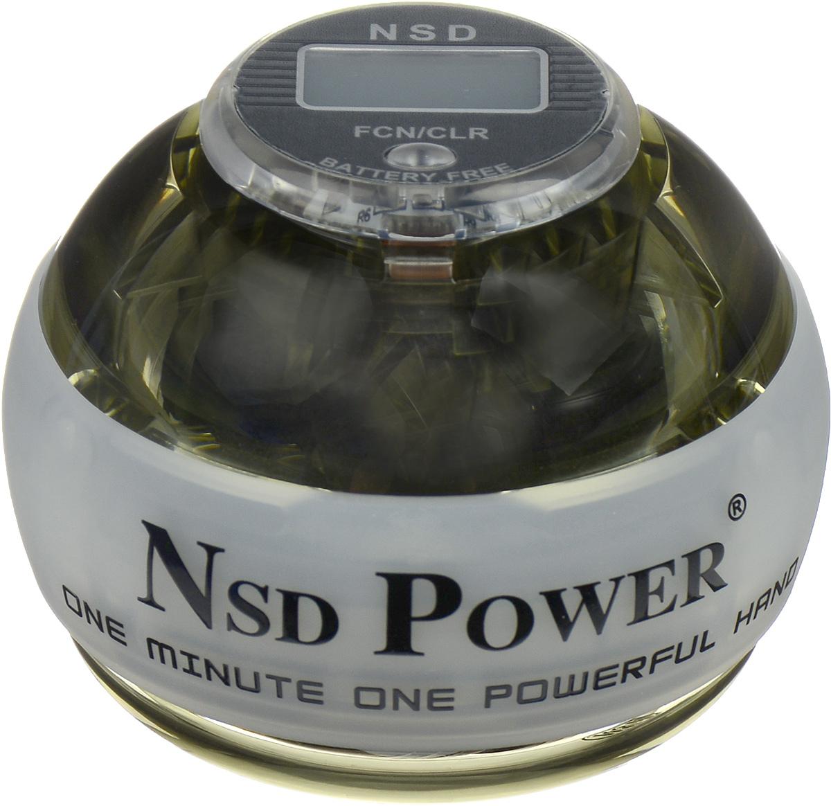 Тренажер кистевой NSD Power Powerball Neon Pro, цвет: белыйGESS-132Кистевой тренажер NSD Power Powerball Neon Pro - новая модель cсчетчиком и подсветкой. Тренажер изготовлен из более прочногоматериала с системой защиты ротора, предотвращающей егоповреждение при падении шара на твердую поверхность. Он будетслужить вам очень долгое время. Также в эту модель внедрена система сменных колец для быстрогоремонта при повреждении. Новый счетчик со встроеннымгенератором работает без батареек. Прекрасно отрегулированныйротор тренажера с отличным балансом может достигать скоростивращения до 15000 оборотов в минуту. В комплект входят инструкция по использованию и два шнурка дляраскрутки.Стильный тренажер для кисти рук, который можно использовать влюбую свободную минуту. Упражнения, проделываемые регулярно,обеспечат отличную тренировку рук, разработку кисти после травмыу спортсменов и не только. Размер тренажера: 7 х 8 см.