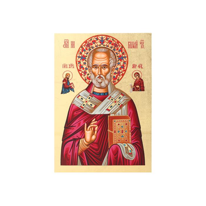 """Икона Артола """"Святитель Николай"""", 9 см х 12,5 см х 2 см IR-SN-P1"""