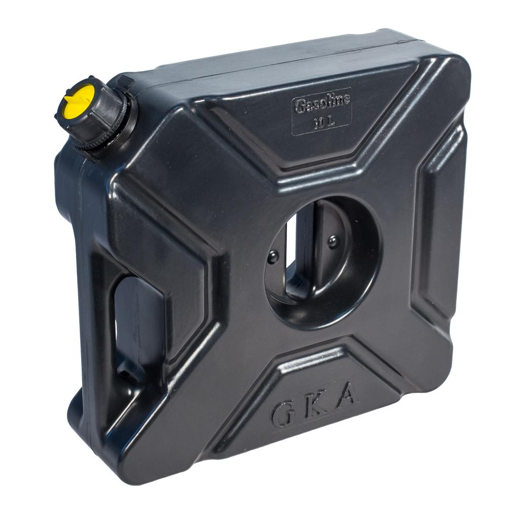 Канистра экспедиционная GKA, цвет: черный, 10 л531-401Канистра экспедиционная плоская 10 литров GKA. Изготавливаются из высокопрочных полимеров. Предназначена для любого вида топлива и воды.Укомплектованы гибким носиком для розлива жидкостей. Уплотнитель и антивибрационная система крышки не позволяет жидкости расплескиваться.