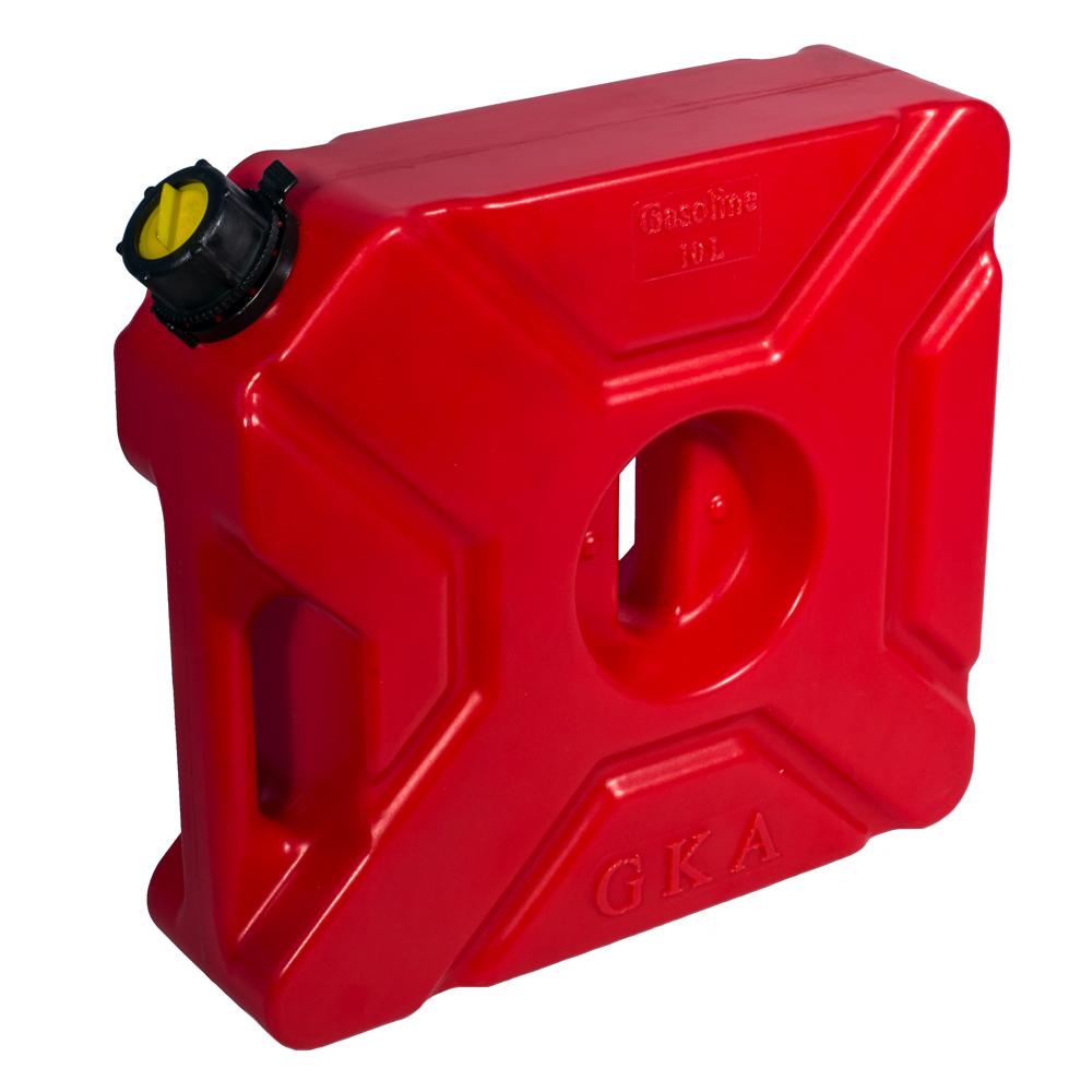 Канистра экспедиционная GKA, цвет: красный, 10 лGKA10RКанистра экспедиционная плоская 10 литров GKA. Изготавливаются из высокопрочных полимеров. Предназначена для любого вида топлива и воды. Укомплектованы гибким носиком для розлива жидкостей. Уплотнитель и антивибрационная система крышки не позволяет жидкости расплескиваться.