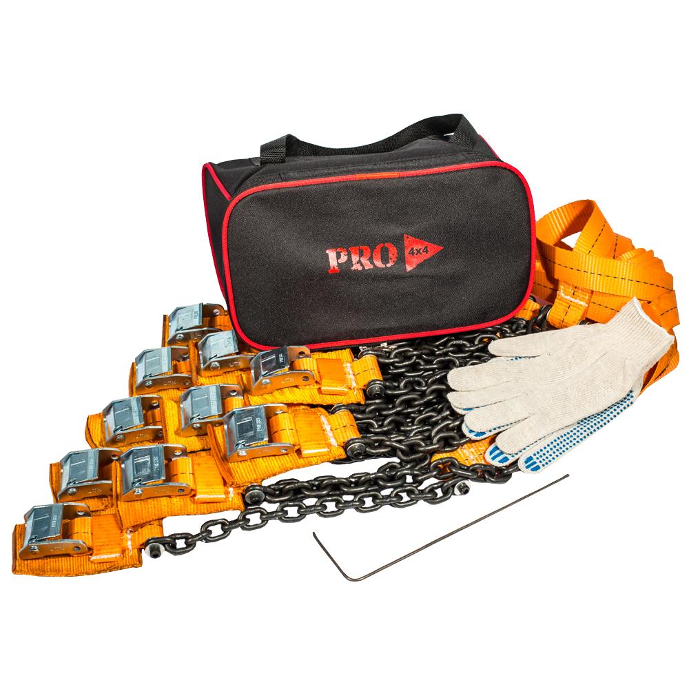 Браслеты противоскольжения PRO-4x4 Heavy, для внедорожника, 10 штPRO-BPS-000310Браслеты противоскольжения будут незаменимыми помощниками во время выездов на природу, на охоту или рыбалку, поездок в деревню и на дачу. Технические характеристики браслетов PRO-4х4: Размер шин: от 205/55 до 285/85 Размер диска (радиус): от R15 до R21 Вес: 2.94 кг. Длина браслета: 111 см. Длина ленты: 68 см. Ширина ленты: 3.5 см. Длина цепи: 31.5 см. Толщина цепи: 6 мм. Защита диска: спец. накладка Применяется для а/м массой до 5000 кг.