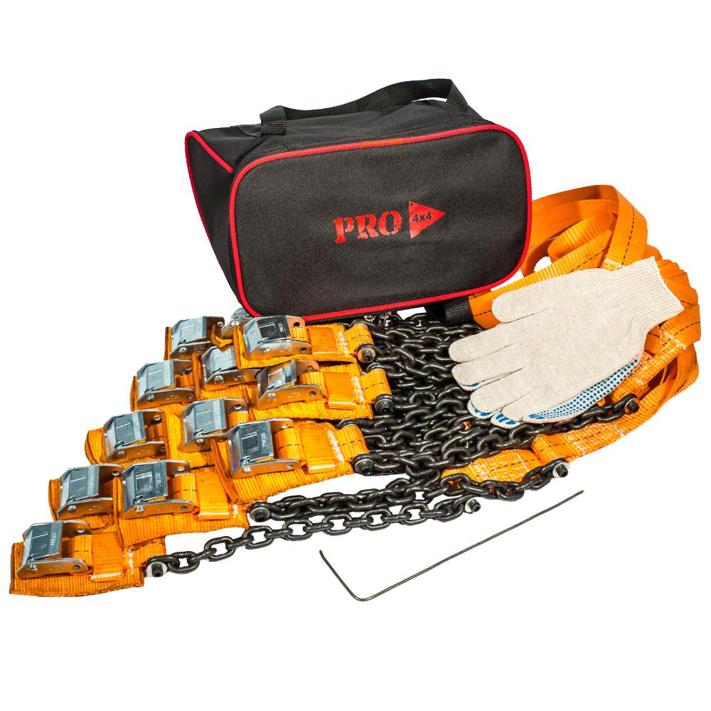 Браслеты противоскольжения PRO-4x4 Heavy, для внедорожника, 12 штPRO-BPS-000312Браслеты противоскольжения будут незаменимыми помощниками во время выездов на природу, на охоту или рыбалку, поездок в деревню и на дачу.Технические характеристики браслетов PRO-4х4: Размер шин: от 205/55 до 285/85 Размер диска (радиус): от R15 до R21 Вес: 2.94 кг. Длина браслета: 111 см. Длина ленты: 68 см. Ширина ленты: 3.5 см. Длина цепи: 31.5 см. Толщина цепи: 6 мм. Защита диска: спец. накладка Применяется для а/м массой до 5000 кг.