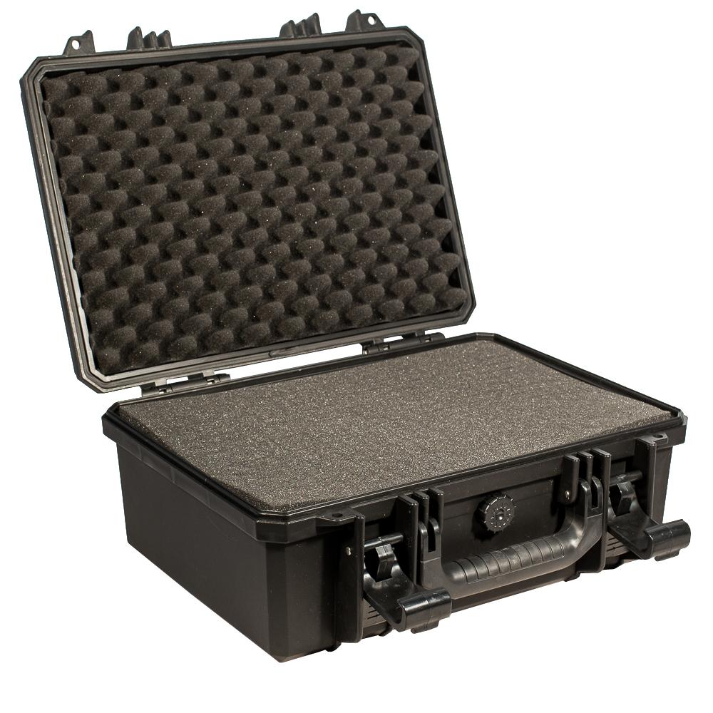 Кейс противоударный PRO-4x4 №3, влагозащищенный, 40 х 32 х 18 см, цвет: черныйPRO-BXF-B04032В кейсе №3 с поропластом возможно хранить и перевозить портативные радиостанции, планшеты, сканеры и ТСД. Просеченный наполнитель поможет обезопасить Вашу технику. Защищенные кейсы- это надежный и проверенный способ сохранить в целостности дорогостоящее оборудование, требующее бережной транспортировки и гарантированной сохранности.