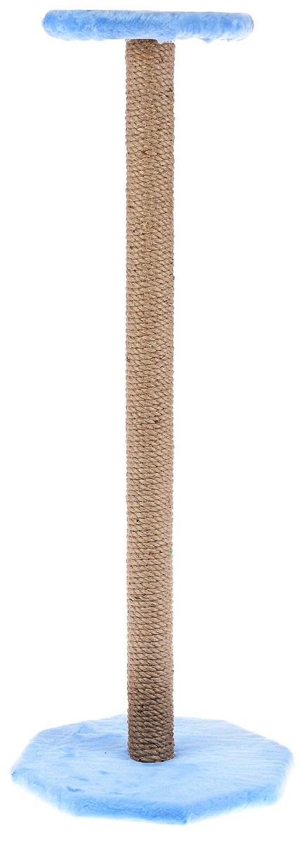 Когтеточка ЗооМарк, с полкой, цвет: голубой, бежевый, высота 102 см101-2_голубойКогтеточка ЗооМарк поможет сохранить мебель и ковры в доме от когтей вашего любимца, стремящегося удовлетворить свою естественную потребность точить когти. Когтеточка изготовлена из дерева, искусственного меха и джута. Товар продуман в мельчайших деталях и, несомненно, понравится вашей кошке. Сверху имеется полка. Всем кошкам необходимо стачивать когти. Когтеточка - один из самых необходимых аксессуаров для кошки. Для приучения к когтеточке можно натереть ее сухой валерьянкой или кошачьей мятой. Когтеточка поможет вашему любимцу стачивать когти и при этом не портить вашу мебель. Размер основания: 35 х 35 см. Высота когтеточки: 102 см. Размер полки: 26 х 26 см.
